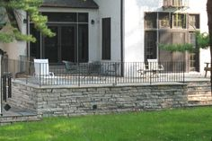 raised patio with railing