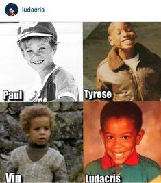 When they were little Paul Walker Tyrese Gibson Vin Diesel & Ludacris Two Fast Two Furious, Fast Furious Series, Movie Fast And Furious, Furious Movie, The Furious, Fast And Furious Memes, Paul Walker Family, Rip Paul Walker, Michelle Rodriguez