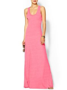 Alternative Eco Racer Maxi - Pink Maxi Dress