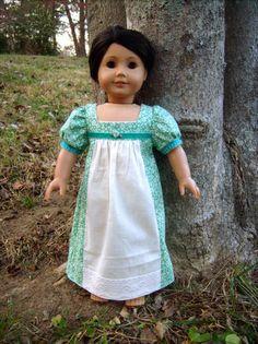 """Turquoise"" 1812 Regency Day Dress Caroline Josefina American Girl Dolls   eBay"