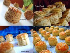 AranyTepsi: Pogácsák gyűjteménye Hungarian Desserts, Croissant, Winter Food, Nutella, Sushi, Bakery, Muffin, Rolls, Food And Drink