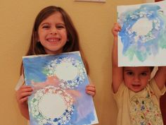 Cool project from www.kiwicrate.com/thestudio: Doily Snowflake Painting