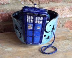 Yarn Bowl  Tardis by EarthWoolFire on Etsy, £75.00
