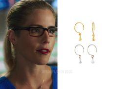 Felicity: Gold Droplet Earrings – Arrow Fashion Blog