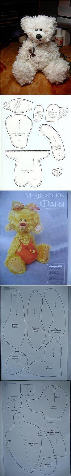 Cómo coser un oso con las manos | Patrones oso de juguete | Sweet home - la idea de la costura, tejido de punto, decoración de interiores
