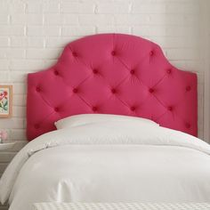 Genial Tufted Cotton Upholstered Headboard