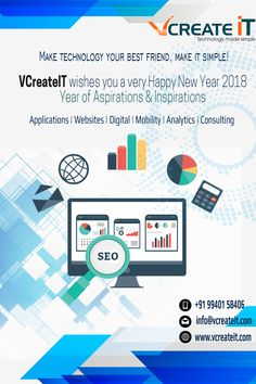 Vcreateit Chennai  wishes you all #Happy #New #year #2018 #HappyNewYear2018 #Happy2018