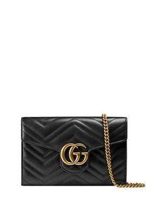 GG+Marmont+Matelassé+Mini+Bag,+Black+by+Gucci+at+Neiman+Marcus.