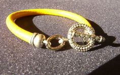 Yellow Lether Bracelet