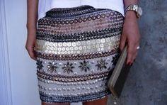 Look saia bordada - Cena Fashion