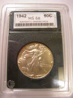 1942 Walking Liberty Half Dollar by SandridgeAntiques on Etsy, $70.00