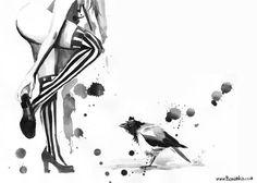 OMG, In love:  Lora Zombie's Ink Splats