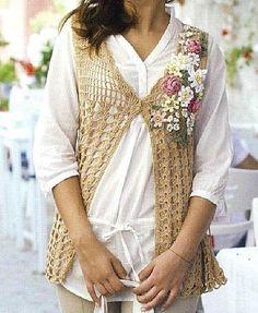 Nice casual vest - Diagrama ༺✿ƬⱤღ  http://www.pinterest.com/teretegui/✿༻