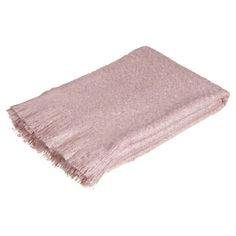 Faux Mohair Throw - Faded Rose