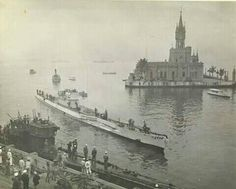 U-540 ( whiter hull,in background) and U-977 ( darker, foreground) at the Rio de Janeiro Naval Base in Brazil in September 1945