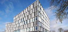 Die neue Microsoft Firmenzentrale in Lyngby ist Teil eines größeren Stadtentwicklungsprojekts, das in Kürze auch Wohnungsbau, Einzelhandel, Cafés und andere Gewerbe einschließt.