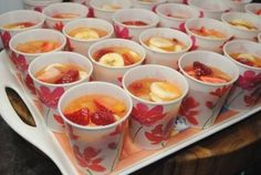 Cravings.    Frozen fruit cups-great slushy snack for kids...I had this at a cookout several years ago- it is seriously amazing-especially on a hot day!