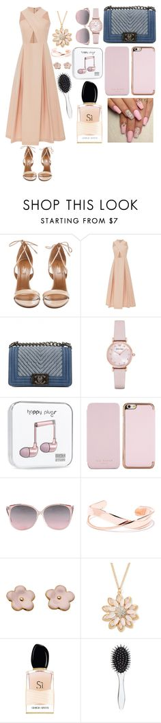 """Untitled #39"" by masha1978 ❤ liked on Polyvore featuring beauty, Aquazzura, Preen, Chanel, Emporio Armani, Ted Baker, Mixit, Giorgio Armani and New Look"