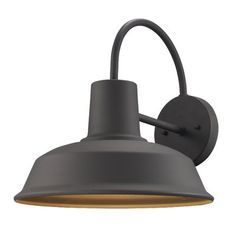 Bel Air Lighting Weathered Bronze Outdoor Wall Mount Barn Light Sconce 50330 WB - The Home Depot Outdoor Barn Lighting, Outdoor Wall Lantern, Farmhouse Lighting, Outdoor Wall Sconce, Exterior Lighting, Outdoor Walls, Rustic Outdoor, Backyard Lighting, Exterior Barn Lights