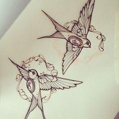 swallow illustration #tattoo