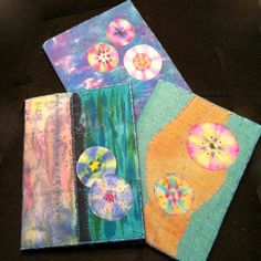 LINDA KITTMER'S FIBRE ART, PHOTOGRAPHY & JOURNALLING: Sharpie Faux Tie-dye Tutorial and More Journal Covers