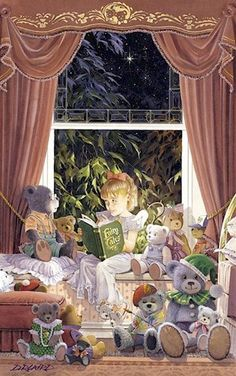 "Douglas Laird: ""Fairy Tales"". And the teddy bears are ready for story time!"