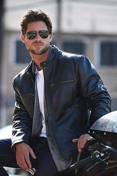 Stylish Retro Motocross Jacket is made of thick, heavy-duty cowhide leather for unbeatable durability and classic biker style. Leather Jacket Outfits, Men's Leather Jacket, Biker Leather, Leather Men, Cowhide Leather, Leather Jackets, Pink Leather, Best Aviator Sunglasses, Best Mens Sunglasses