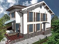 Case cu latimea de 7 metri - 3 proiecte generoase - Case practice Utila, Home Fashion, House Plans, Modern Design, Exterior, Mansions, House Styles, Outdoor Decor, Home Decor