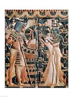 """Tutankhamun and his wife Ankhesenamun in a garden."" Print available from www.shopforart.com #deckthewalls"