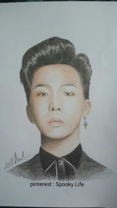 My drawing for G-Dragon @spooky life