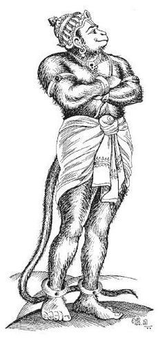 Hanuman - monkey-like face