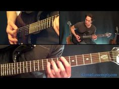 Fade To Black Guitar Lesson Pt.2 - Metallica - Distorted Rhythm Parts - YouTube