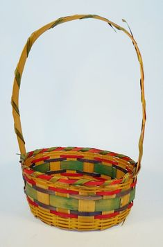 $20 + $9 shipping for sale 2020 Vintage wicker woven Easter basket made in Japan   Etsy