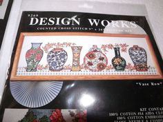 """Design Works WAITING AT THE FIREHOUSE Counted CS Kit  Hard to Find 9/"""" x 22/"""""""