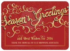 153 best happy holidays images on pinterest holiday greeting cards business holiday card elegant seasons greetings red gold m4hsunfo