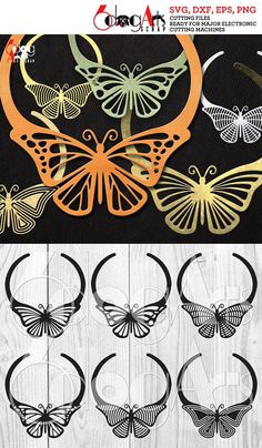 This 6 Leather Butterfly Necklace Templates Vector Digital SVG DXF is just one of the custom, handmade pieces you'll find in our craft supplies & tools shops. Leather Necklace, Leather Jewelry, Leather Craft, Cricut, Butterfly Necklace, Diy Schmuck, Leather Projects, Diy Jewelry, Gold Jewellery