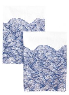 Waves Napkin Set #PintoWin #Anthropologie