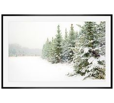 "Snow Scene by Cindy Taylor, 42 x 28"", Wood Gallery, Black, Mat"