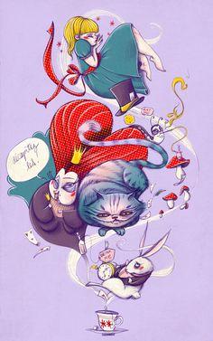 Alice in Wonderland by *Huguettepizzic on deviantART