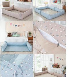 분리형 유아범퍼쿠션/37 110사이즈/37 150사이즈중택1 - G마켓 모바일 Diy Crib, Diy Bed, Baby Cost, Bunk Bed Rooms, Baby Hammock, Baby Bumper, Kids Room Design, Baby Cribs, Baby Decor