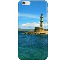 iPhone Case/Skin Chania, Crete, Greece, lighthouse, light, sea, ocean, ship, boats, nature, landscape, waves, blue, horizon, sky, clouds, cloud, land, landmark, stone, Greek, fresh, summer, way, mountain, background, nature, natural, house, port, island, spring, season