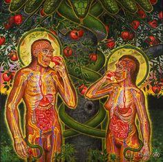 Adam and Eve by Alex Grey