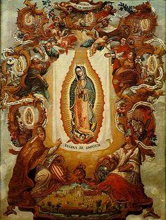 Guadalupe y el arte Enconchado de Miguel Gonzalez 1697