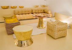 Liwan Salon Copper Table, Showcase Design, Lebanon, Sofas, Madrid, Tables, Chairs, Street, Inspiration