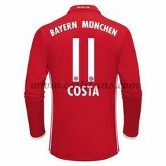 Bayern Munich Fotbalové Dresy 2016-17 Costa 11 Domáci Dres Dlouhým Rukávem
