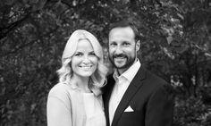 Crown Prince Haakon and Crown Princess Mette Marit serve breakfast to the poor