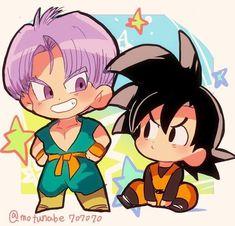 Anime Goku, Chibi Goku, Otaku Anime, Anime Chibi, Kawaii Anime, Goku Dragon, Dragon Ball Z, Goten E Trunks, Goku And Gohan