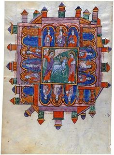Jerusalén Celestial. Beato de Liébana.Comentarios del Apocalipsis. España 1220 Comprado por Pierpont Morgan, 1910 MS M.429 (fol. 140 V)