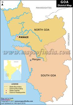 Goa District Map