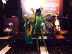 Human Statue Bodyart: Brazil Rio Olympic Bodypainting